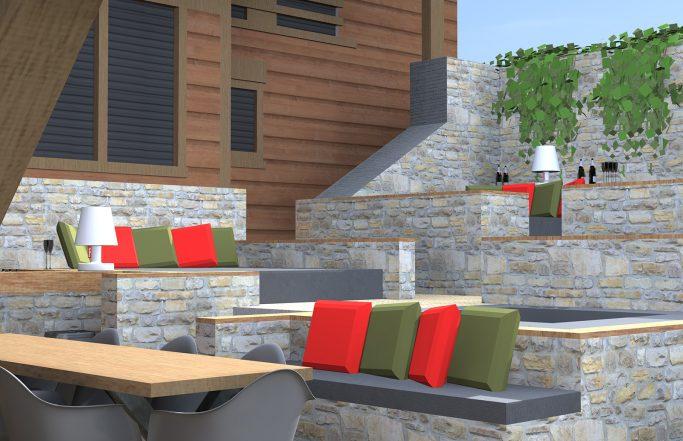 Aménagement d'un patio «Megève – 74»
